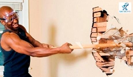 sm devis demolition de mur