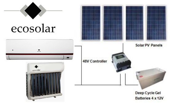 2 clim panneau solaire