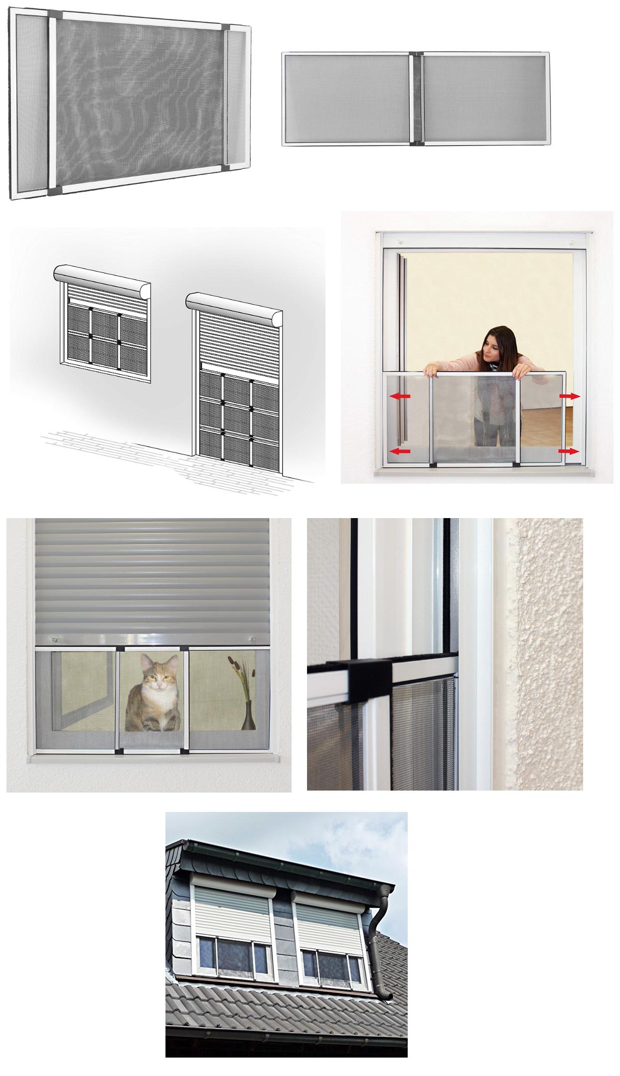 Porte Cuisine Montée Sur Cadre jarolift moustiquaire avec cadre pour fenêtre réglable/easy
