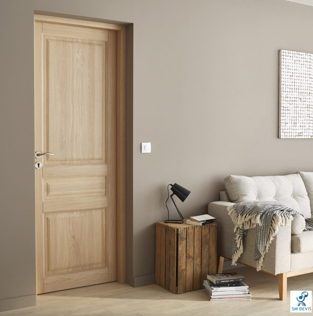 Coût installation porte intérieure bois en Tunisie sm devis