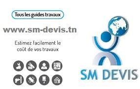 Tous les prix de pose travaux en Tunisie SM Devis